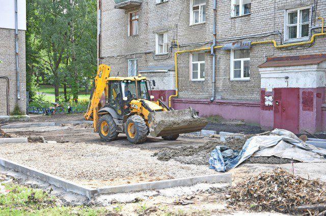 В Ярославле продолжается благоустройство дворов в рамках ...  Благоустройство Территории Жилого Дома