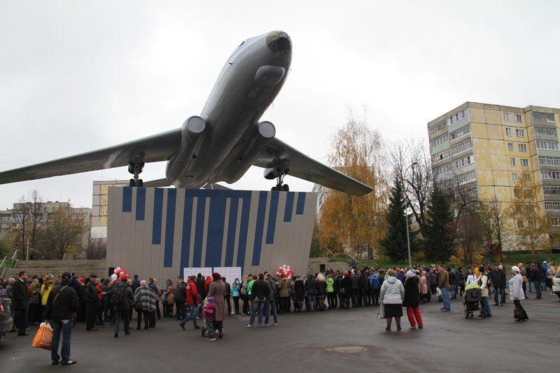 ВРыбинске после реконструкции открыли самолет наплощади