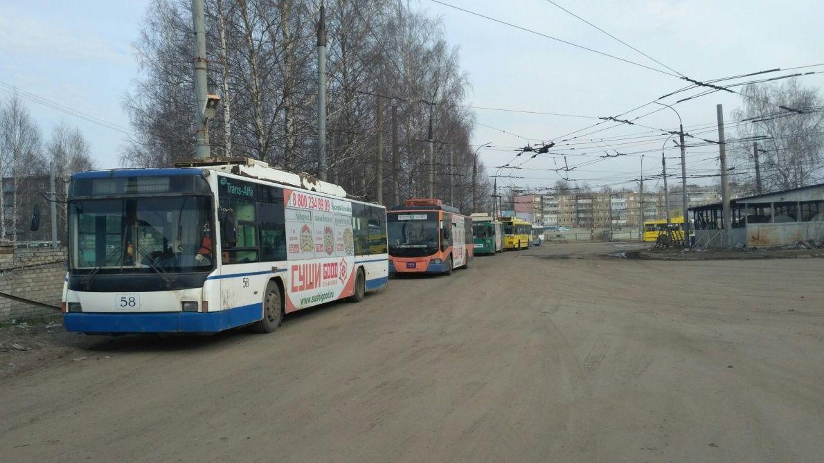 ВРыбинске вставшие троллейбусы поменяют автобусами