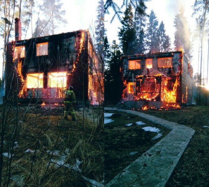 Огонь уничтожил гостевой домик набазе отдыха вПереславском районе