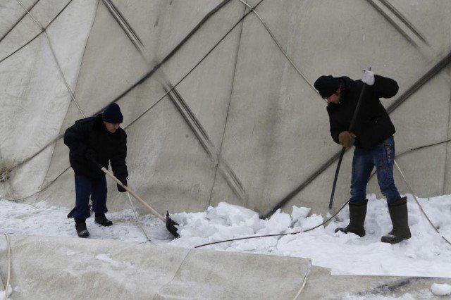 ВЯрославле восстанавливают рухнувший купол легкоатлетического манежа