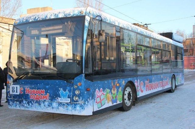 «Волшебный троллейбус» готов квыходу нановогодний маршрут