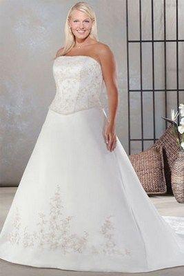 Если хочешь выглядеть стройнее, то обрати внимание на свадебные платья больших размеров с вертикальными линиями